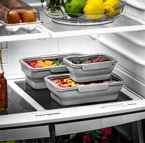 refrigerador limpio y ordenado